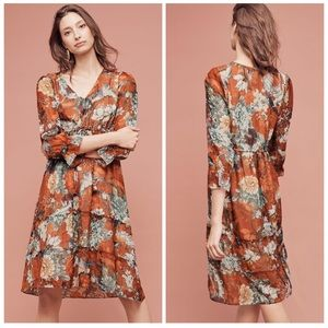 🆕ANTHROPOLOGIE Hemant & Nandita Midi Dress,Size 4